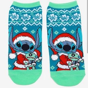 Disney Lilo and Stitch Holiday Socks No-Shows NWTs